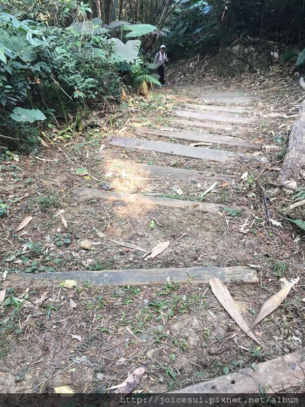 來到階梯路段