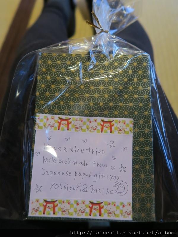 民宿還送了小禮物^^