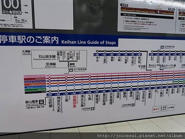 坐京阪電車回東福寺