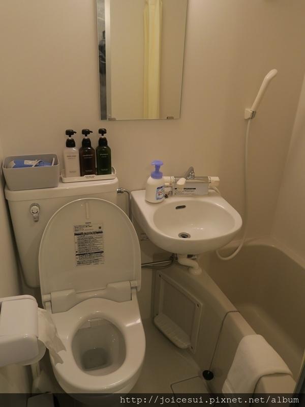 房間內的浴室超迷你