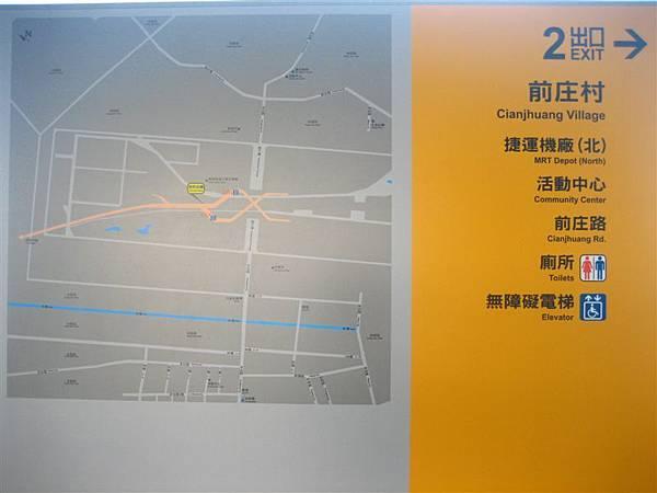 大寮站2號出口示意圖