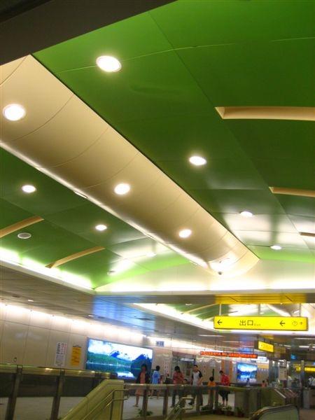 衛武營站綠色屋頂