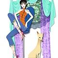 Chinese girl & fox