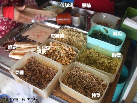 海青王家燒餅就醬配料
