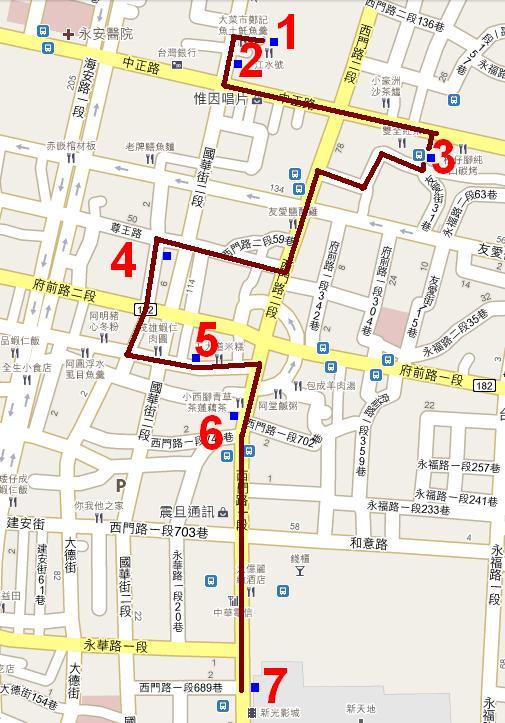 兩小時台南小吃地圖