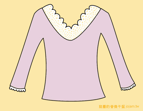 蕾絲邊衛生衣