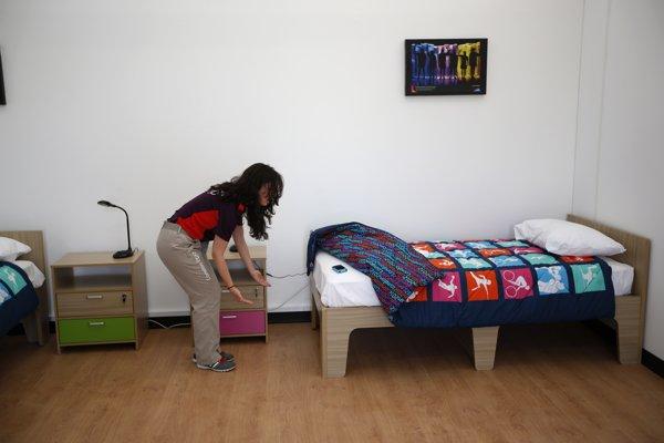 倫敦奧運選手村的房間。