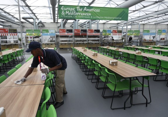倫敦奧運選手村內的食堂