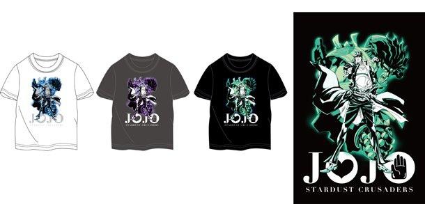ジョジョ第3部アニメのTシャツ、ジャンフェスにて限定発売