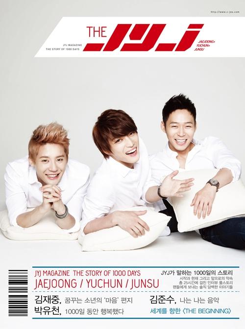 JYJ成立1000天特別雜誌封面圖