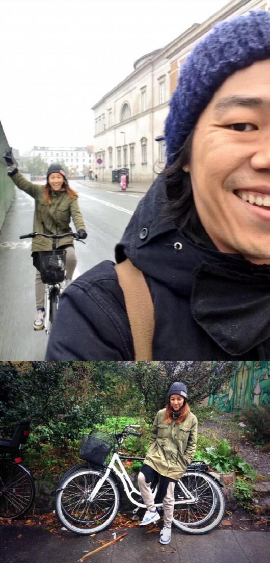 李孝利夫婦新婚 歐洲騎遊好興奮
