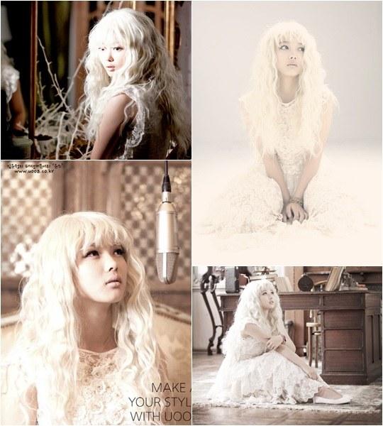 金有貞出演歌手sunbee MV 變身金髮造型