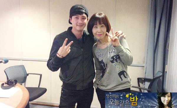 金智勳做客SBS廣播節目《丁善姬的猶如今天的夜晚》,