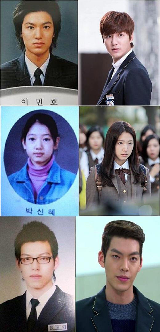 「繼承者們」中飾演學生角色的李敏鎬、金宇彬和朴信惠現實中的畢業照如何?