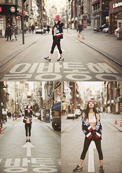 Clara公開街頭時尚照展現健康性感美
