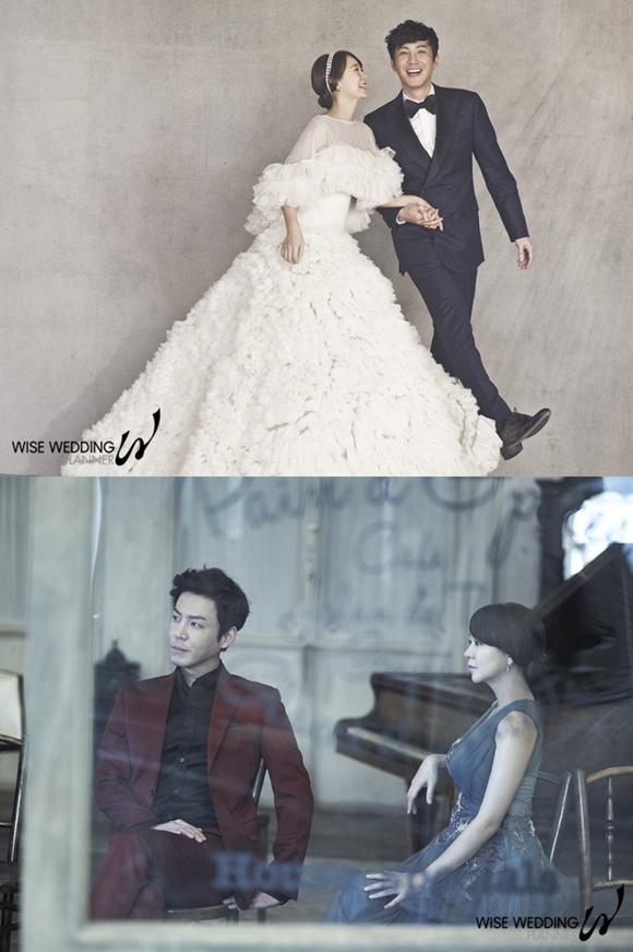 崔元英-沈宜英公開婚紗照,像電影場面中發光的「郎才女貌」