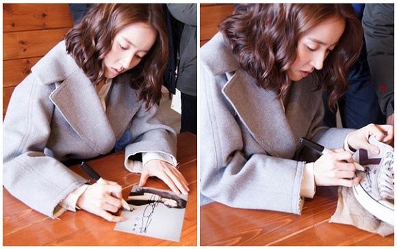 韓惠珍,「溫暖的一句話」殺青戲拍攝現場 「即席簽名會」
