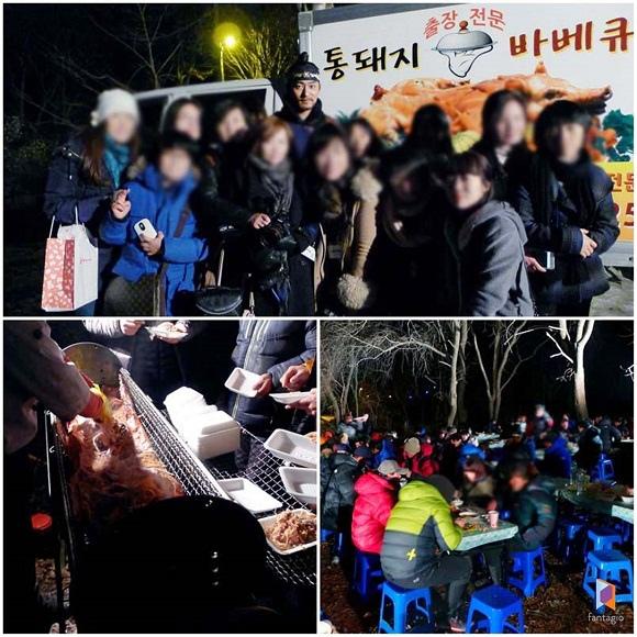 朱鎮模海外粉絲俱樂部 為「奇皇后」劇組獻上炸雞禮物