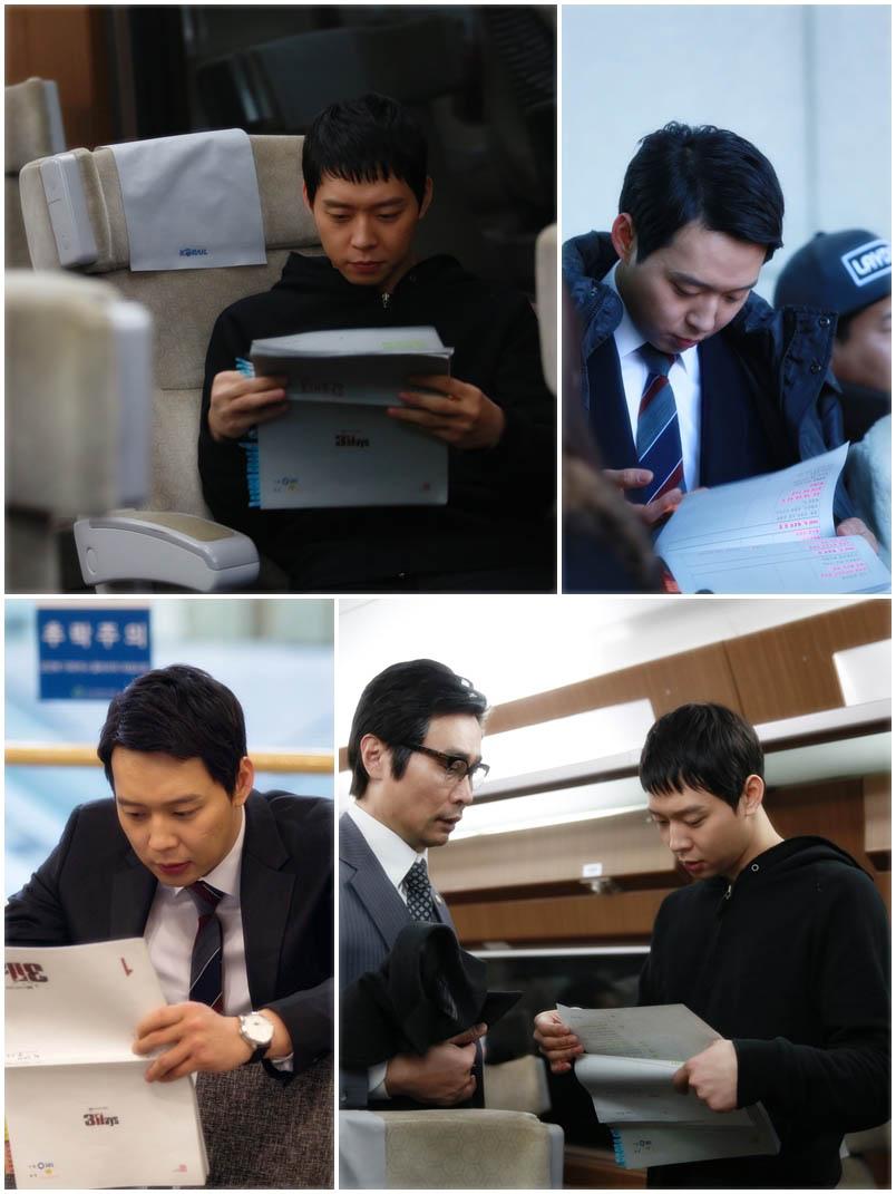 JYJ朴有天賣命拍《Three Days》 劇本一刻不離手