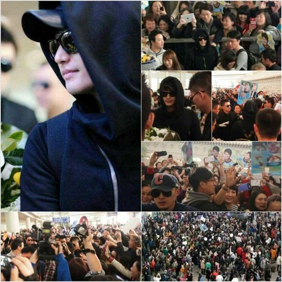 朴施厚 電影「香氣」到訪北京 吸引眾多粉絲造成機場周圍一度癱瘓
