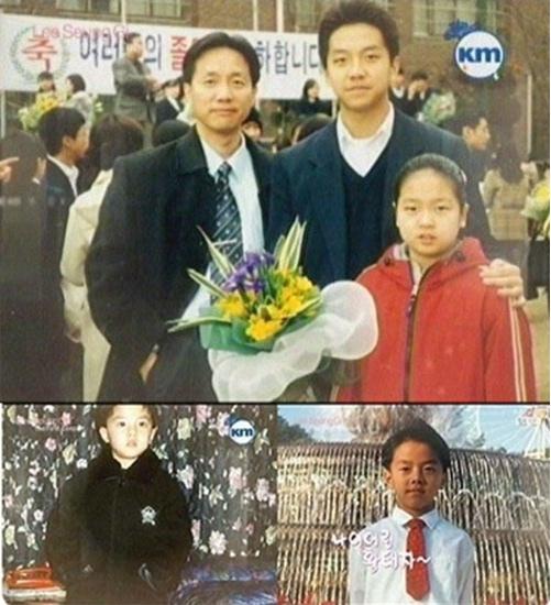 李昇基家人舊照曝光 父親高大妹妹可愛