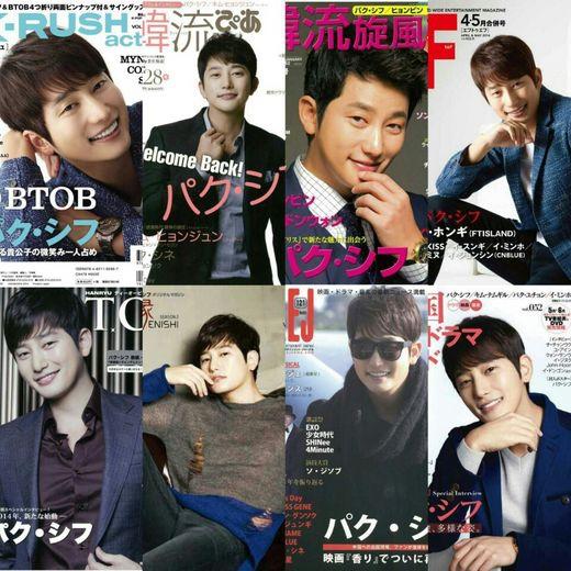 朴施厚登上20多家日本雜誌封面