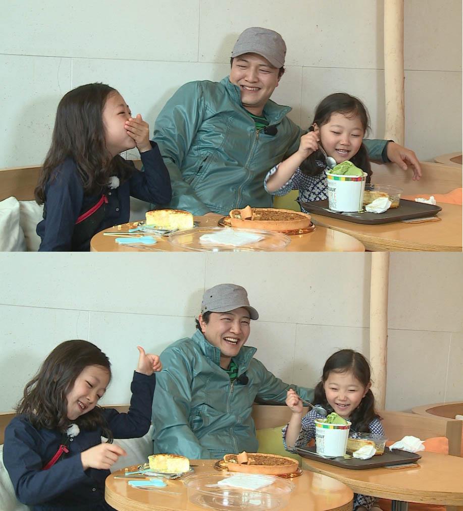 《爸爸我們去哪兒2》鄭雄仁與女兒拍節目笑聲不斷
