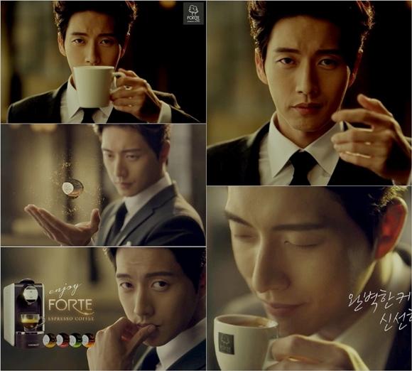 朴海鎮,高品格咖啡廣告吸引女心「貴族風範」