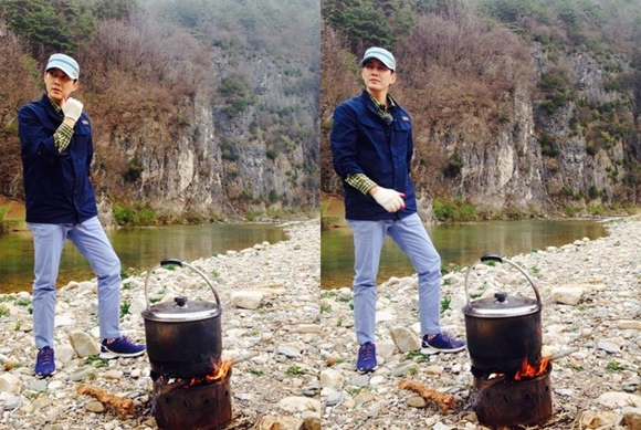 「爸爸去哪裡」金成柱公開柳鎮帥氣照片「煮土豆也那麼帥」