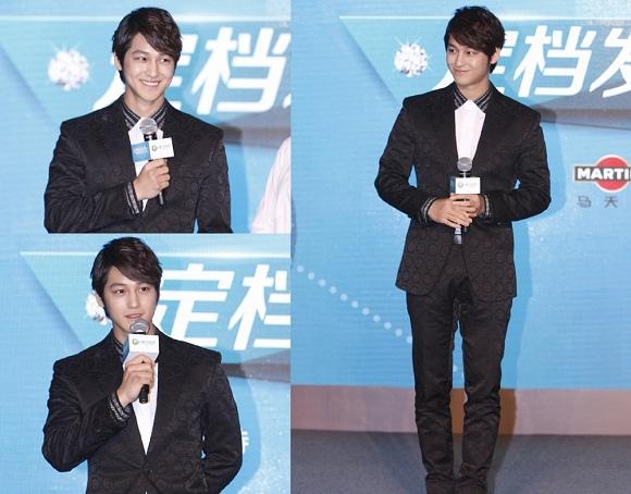 「韓流明星」金汎,亮相中國電視劇「微時代」製作發佈會 人氣依舊