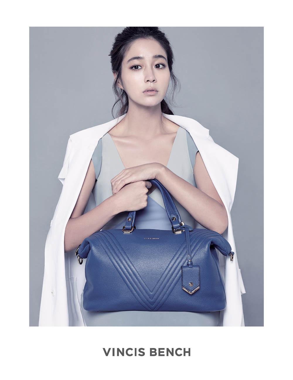 李敏貞攜親自設計的皮包出鏡_VINCIS BENCH_2014_2