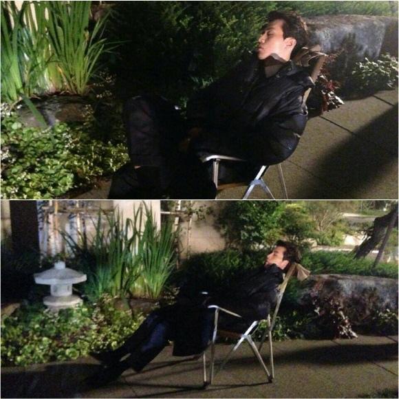 「Hotel King」李棟旭,拍攝現場 抽空小睡的鬥魂精神..與眾不同的演技「熱情」