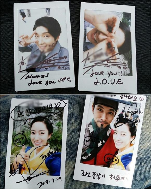 李準基-全慧彬向粉絲傳遞謝意 公開「朝鮮槍手」照片