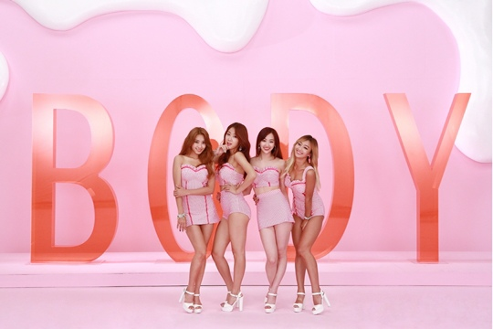 SISTAR《Touch My Body》人氣火爆連奪冠軍