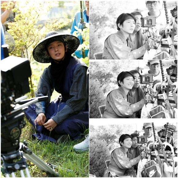 「朝鮮槍手」李準基,幕後花絮照公開..敬業的演技熱情