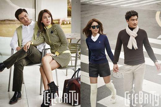 安貞桓•李惠媛拍攝仍舊像新婚的時尚畫報 舉止親密