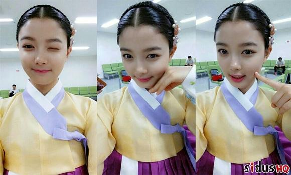 金裕貞,公開3張美貌自拍「穿上韓服心情愉快」