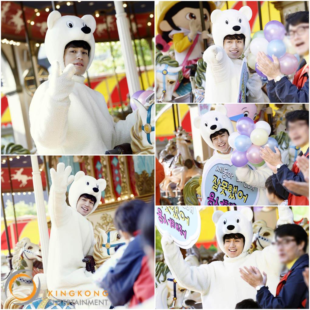 《鋼鐵人》遊樂園開拍 李東旭身穿熊熊裝歡樂可愛