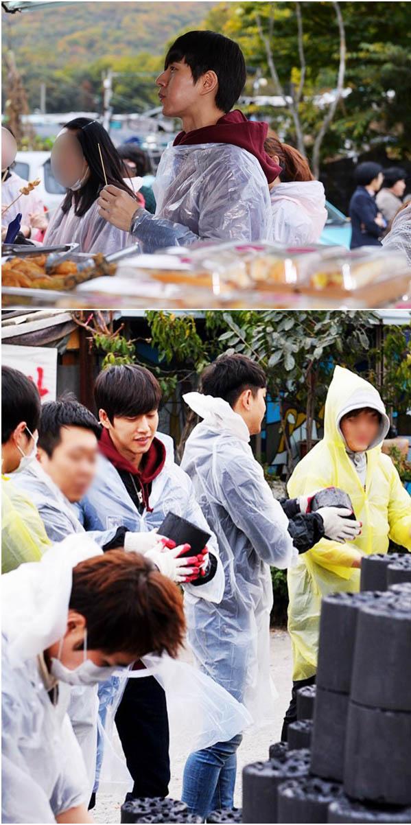 朴海鎮帶意網友當志工為貧困民眾送溫暖_2