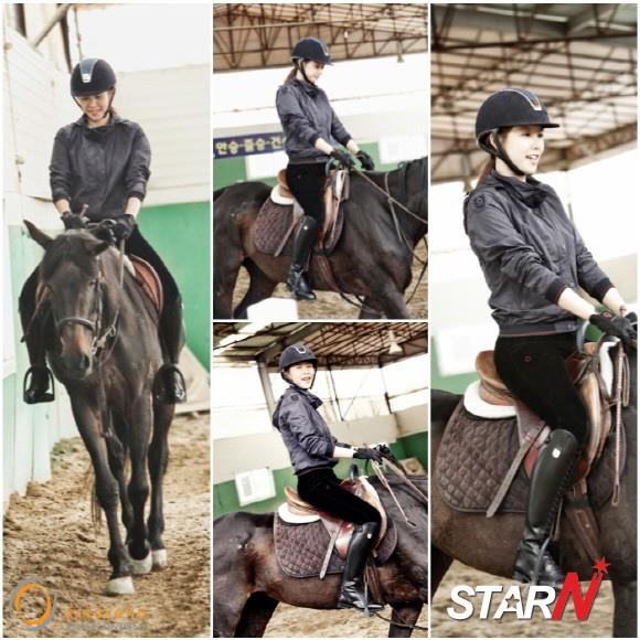「王的面孔」趙胤熙,天真爛漫的練習著騎馬的樣子被公開