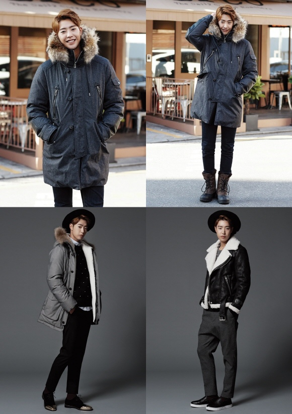 朴敏雨,通過時尚畫報變身華麗的冬季男子「萬眾矚目」