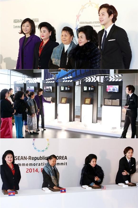 張根碩,ASEAN特別首腦會為東盟夫人做嚮導「果然是韓流明星」