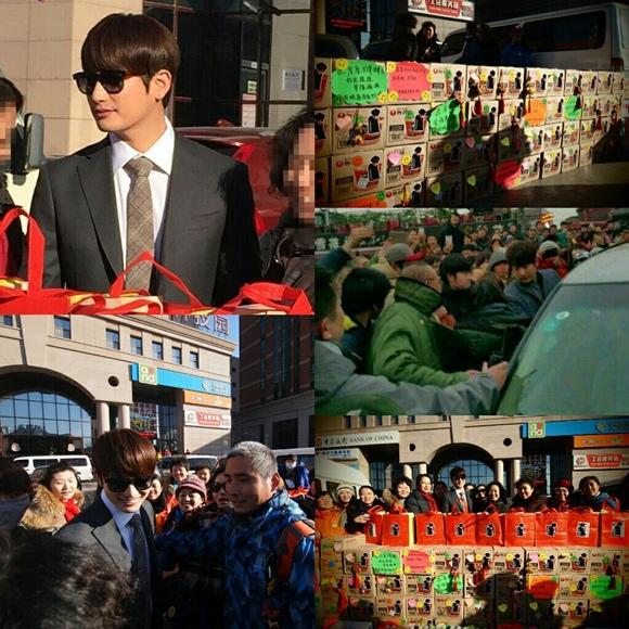 朴時厚在大陸令人吃驚的人氣 中國粉絲為工作組精心準備新年禮物