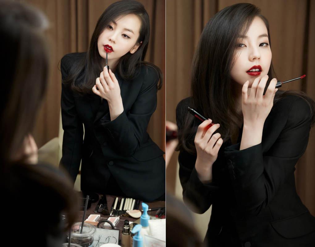 昭熙代言化妝品 紅唇白膚變性感輕熟女