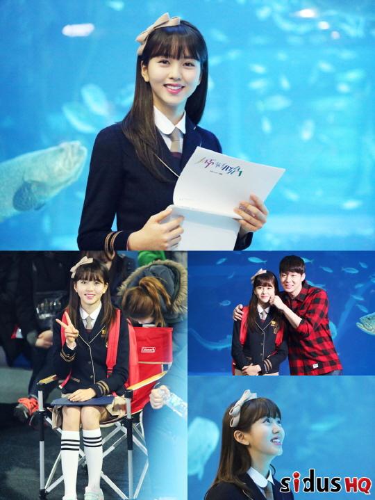 「看見味道的少女」金所炫,拍攝現場幕後照..和朴有天的兄妹效應「炸裂」