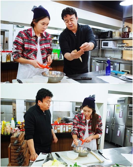 「讓女人哭泣」金諪恩與白鍾元大廚一起練習烹飪「 專業級別」