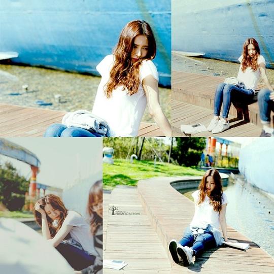 「看見味道的少女」申世京 白色T恤+牛仔褲帶來清純美