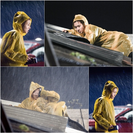 《心情好又暖》姜素拉不畏暴風雨全情投入