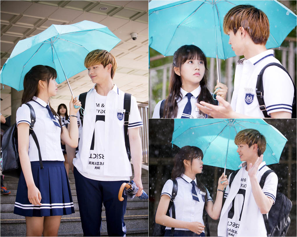 《學校2015》金素賢陸星材雨天同撐傘