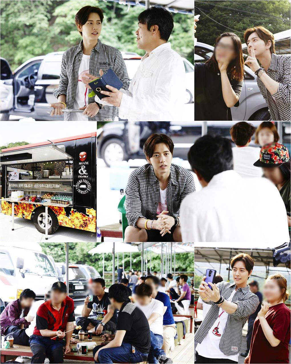 朴海鎮為《隱藏身份》劇組送100人份零食套餐